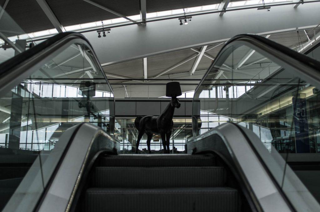 Heathrow Escalator, Club World Lounge